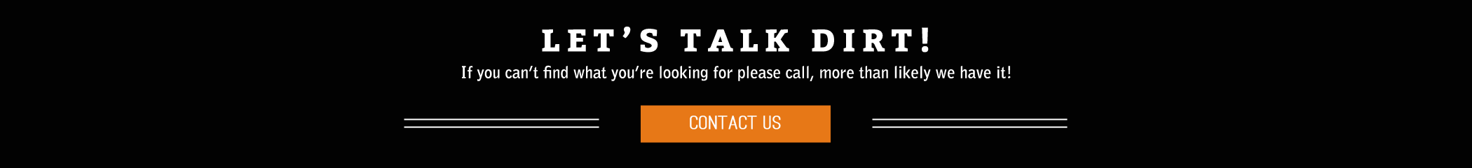 Lets talk dirt - cONTACT uS