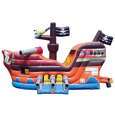 Inflatable Pirate Ship with Slide